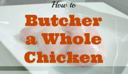 butcher a whole chicken, raw chicken, butcher a chicken