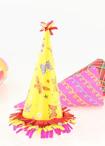 my Dad's surprise party, birthday party, party hat, great financial blogs, personal finance, finance blogs
