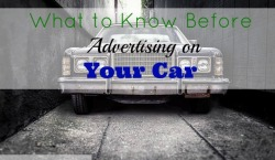 advertising on your car, small business, selling your car