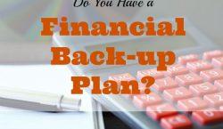 financial tips, financial advice, financial back-up plan