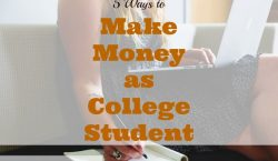 making money in college, college part-time jobs, side hustle