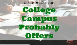 college services, campus services offered, free services on college campuses