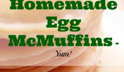 egg McMuffins, homemade egg McMuffins, english muffin