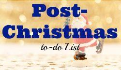 to-do list, Christmas, post-Christmas
