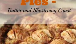 Homemade Pies, pie crust