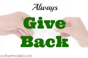give back, pay it forward, good karma, show appreciation