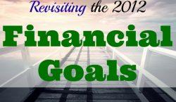 2012 financial goals, financial goals, financial expectations