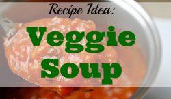 Veggie Soup, vegetable soup, vegetarian, soup