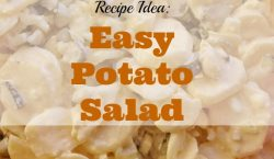 Easy potato salad, bbq side dish, bbq season, side dish