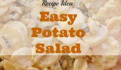 Easy potato salad, bbq side dish, bbq season, side dish