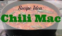 Chili Mac, slow cooker, chili, mac, pasta, chili beans