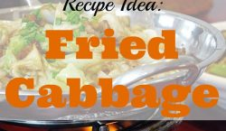 Fried cabbage, side dish, cabbage