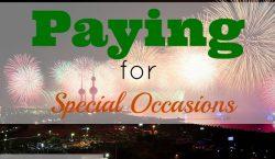 special occasions, prepare financially, irregular savings account, irregular savings, invitation