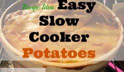 Easy Slow Cooker Potatoes, baked potatoes, potato