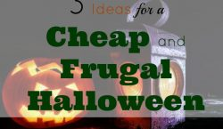 cheap and frugal Halloween, cheap Halloween, trick or treat