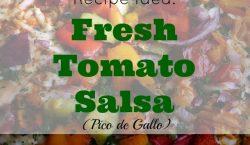 Fresh tomato salsa, salsa recipe, tomatoes