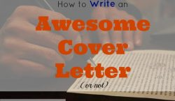 cover letter, writing a cover letter, resume with cover letter, job hunting