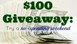 no-spending weekend, cash giveaway