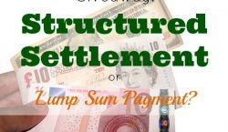 international money, Structured settlement, annuity, lump sum payment