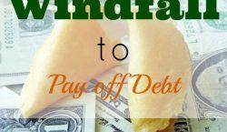 pay off debt, financial windfall, extra money