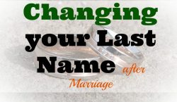 Changing your last name, marriage, wedding