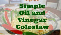 Oil and Vinegar Coleslaw, salad, coleslaw, healthy salad, healthy recipe