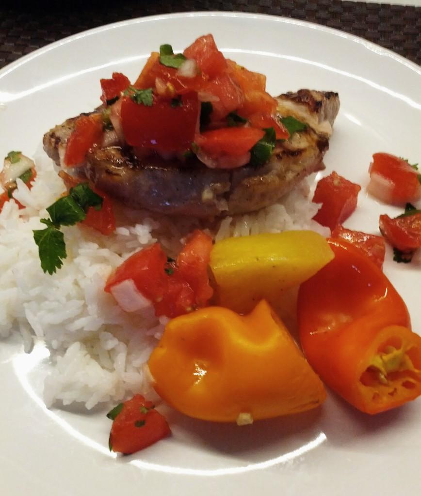 Pork Chops and Salsa