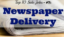 stack of newspapers, Top 10 Side Jobs, newspaper delivery, newspaper boy