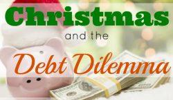 Debt Dilemma, christmas shopping