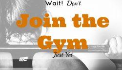 Join the Gym, gym membership