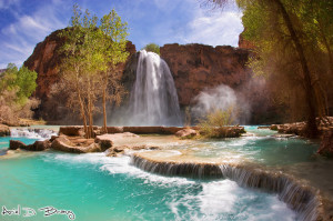 Havasu Falls, Arizona. Copyright, Photo by XX.