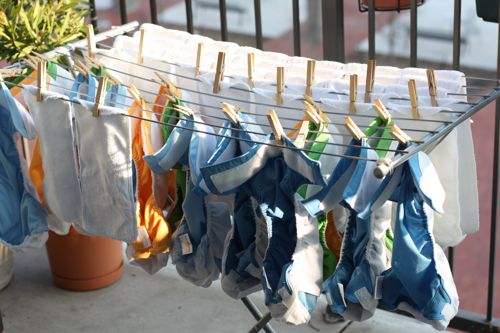 Clothes-drying-rack-diapers