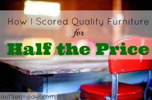 Quality Furniture, good deals, discount on furniture, spot a good deal