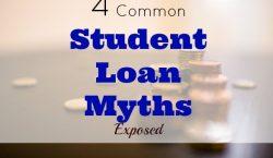 student loan myth, student loans, student loan tips