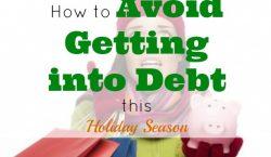 avoid debt, holiday tips, debt free shopping