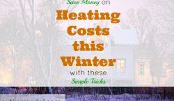 saving money, heating costs, winterizing