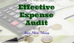 expense audit, saving money, budgeting finances