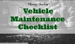 vehicle maintenance tips, vehicle maintenance, saving money on vehicle maintenance