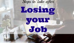 job tips, job advice, job loss advice