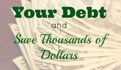 reduce debt, saving money, debt tips