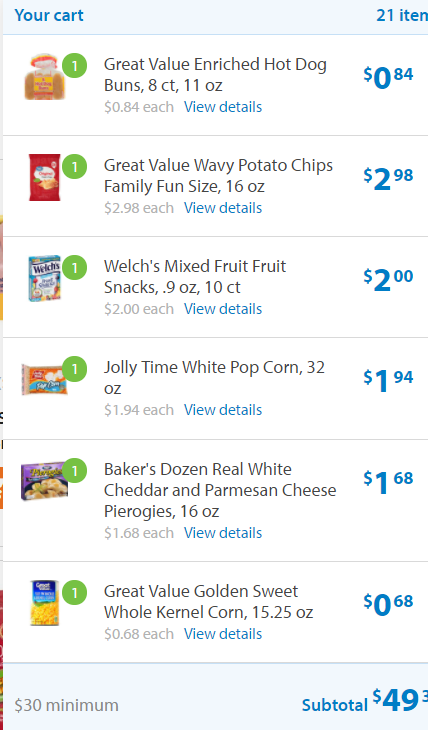 Groceries - Walmart