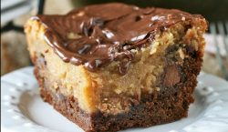 Wait until you taste this chocolate peanut butter ooey gooey cake!