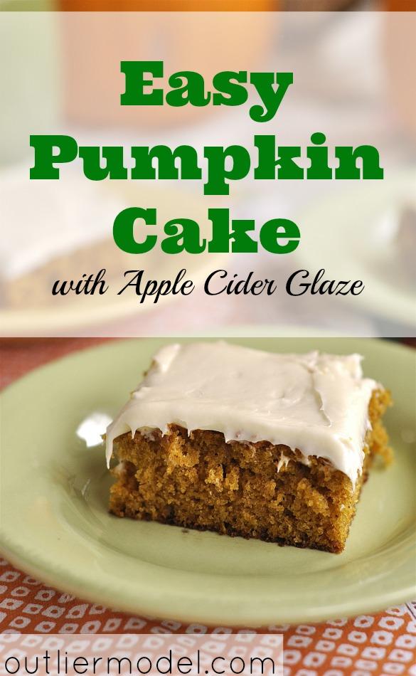 frugal baking, pumpkin cake, easy pumpkin cake