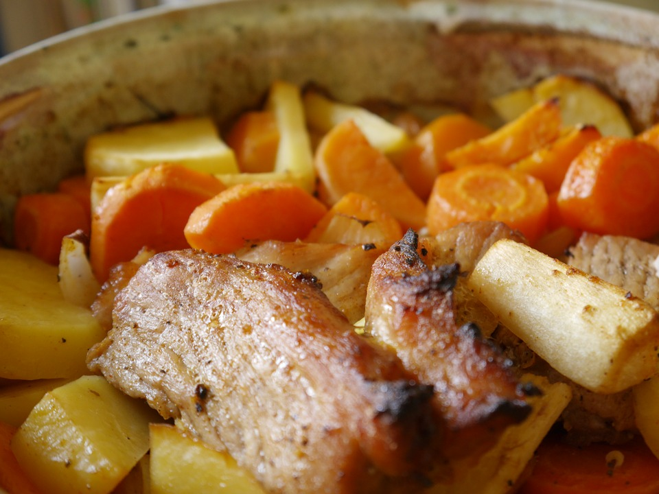 Pork Roast with Carrots and Potatoes