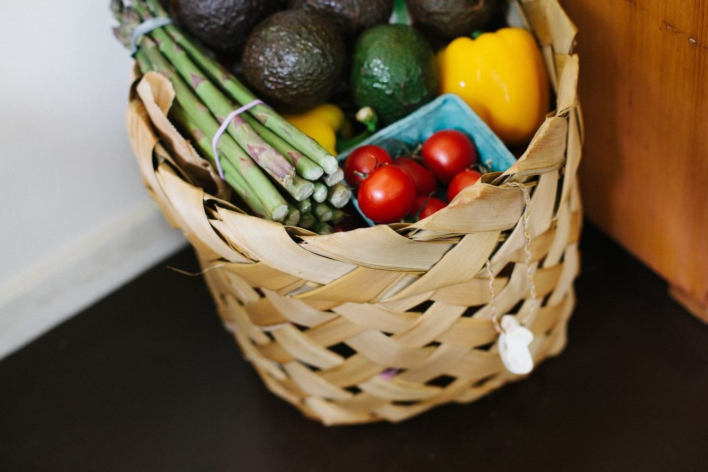 Food Basket from Grocery Delivery