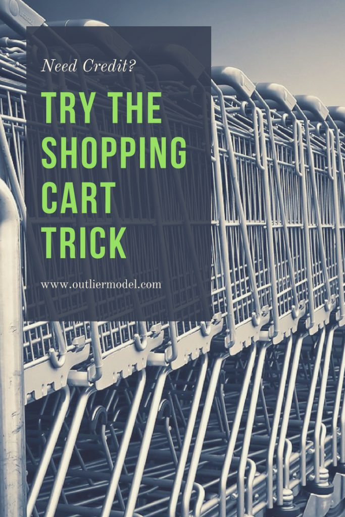 credit tips, shopping cart trick, working on credit