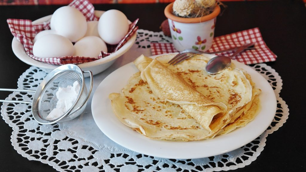 Crepes with Roasted Vegetables Recipe