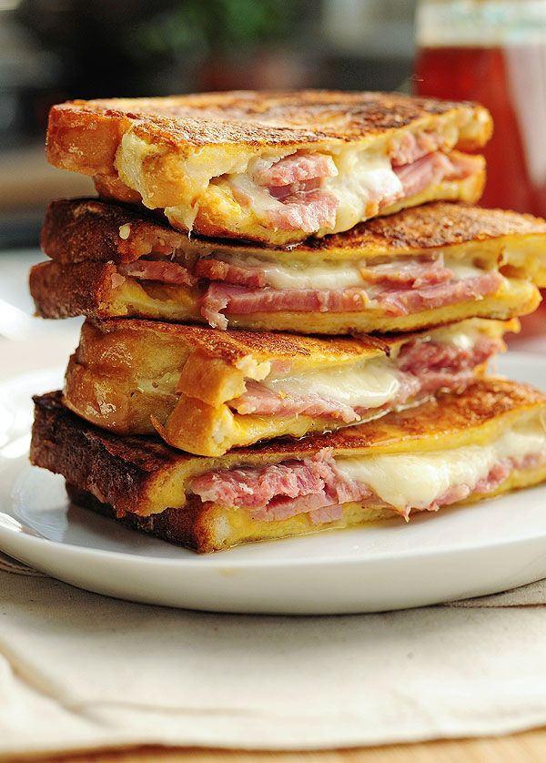 making a sandwich, Monte Cristo sandwich, sandwich recipe